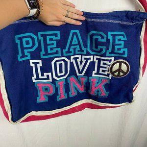 Pink Victoria's Secret Blue large canvas tote bag